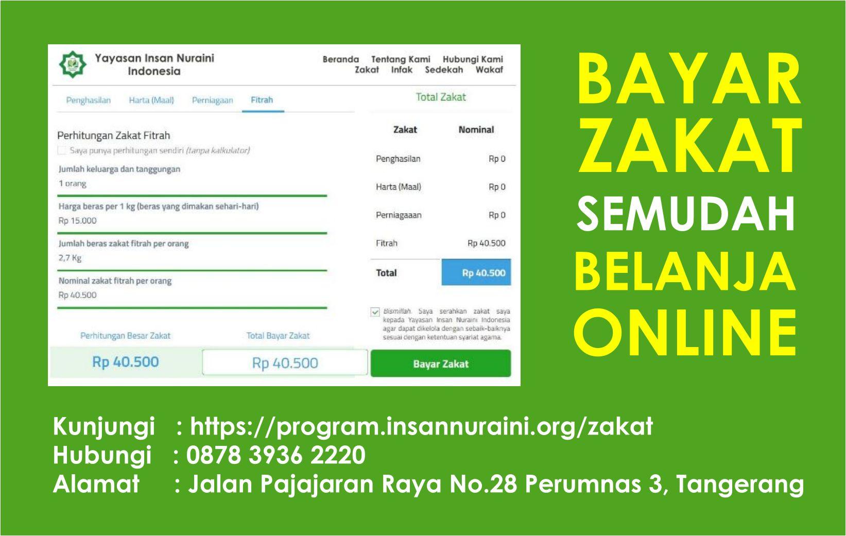 Hukum Membayar Zakat Fitrah Online