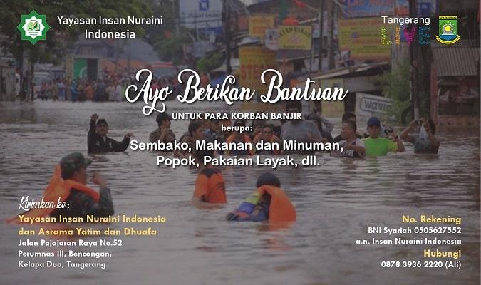 Ayo Bantu Saudara Kita yang Terdampak Banjir