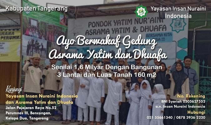 Ayo Berwakaf Gedung Asrama Yatim dan Dhuafa