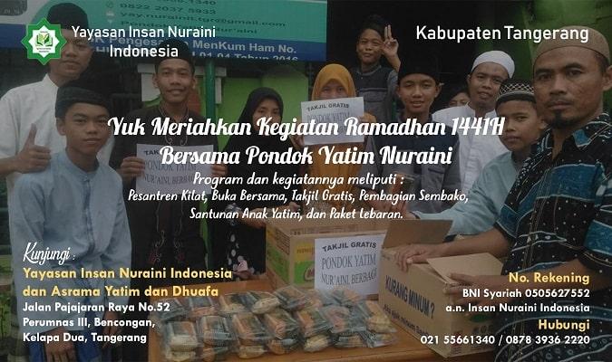 Yuk Meriahkan Kegiatan Ramadhan 1441H Bersama Pondok Yatim Nuraini